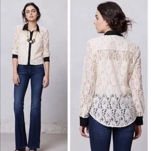 Anthropologie Gemma Lace Button Down